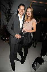 BRENDAN COLE and ZOE HOBBS at a reception before the launch of the English National Ballet Christmas season launch of The Nutcracker held at the St,Martins Lane Hotel, London on 5th December 2008.