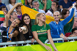 Girls of Lithuania during quarterfinal basketball match between national team of Lithuania and Italy at Eurobasket 2013 on September 19, 2013 in SRC Stozice, Ljubljana, Slovenia. (Photo By Matic Klansek Velej / Sportida.com)