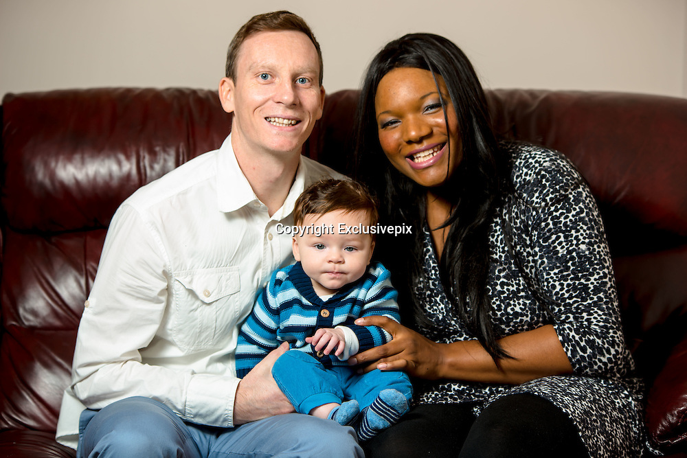 EXCLUSIVE<br /> 'The colour of his skin is of no concern': The black mother who gave birth to a white baby - beating odds of a million-to-one<br /> <br /> A mother has beaten odds of a million-to-one by giving birth to a baby who appears to be of a different race.<br /> <br /> Catherine Howarth, 32, from Milton Keynes, is Nigerian by heritage, and so was, at first, a little taken aback when she saw her son Jonah for the first time.<br /> <br /> With his pale skin, green eyes and light brown hair, Jonah, now three months old, looks like any other new-born baby - but, when seen in his mother's arms, his uniqueness is obvious.<br /> <br /> Recalling the moment she delivered Jonah in Milton Keynes Hospital on June 1, said his mother 'The midwife looked at me and looked back down at Jonah and then at me again and couldn't believe it.'<br /> <br /> Some children get darker after a few weeks when the skin colour they will have for life starts to become obvious. But you can see from the colour at the tips of their ears what that Jonah was fully white.<br /> <br /> We have been told I must have been carrying a recessive gene. My parents were from Nigeria and, for as far back as anyone can remember; my family have all been black.'<br /> <br /> Husband Richard, 34, who works as a medical recruitment consultant, was equally as shocked when he first saw his son, who is the couple's first child together.<br /> <br /> However, he was primarily just happy that Jonah was strong and healthy, after he got the umbilical cord tangled round his neck during labour – a potentially dangerous complication.<br /> <br /> 'The colour of Jonah's skin is of no concern - Jonah being a healthy and happy baby is what matters.'<br /> <br /> The couple have been told that they are unlikely to have another white baby if they have further children, due to the extremely rare combination of genes needed.<br /> <br /> Photo Shows: Mum Catherine,Dad Richard and baby Jonah<br /> ©Exclusivepix