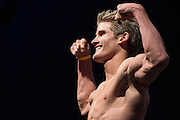 HOUSTON, TX - OCTOBER 2:  Sage Northcutt weighs in during the UFC 192 weigh-in at the Toyota Center on October 2, 2015 in Houston, Texas. (Photo by Cooper Neill/Zuffa LLC/Zuffa LLC via Getty Images) *** Local Caption *** Sage Northcutt