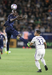 June 24, 2017 - Carson, California, U.S - Ike Opara #3 of Sporting KC heads the ball during their game against Los Angeles Galaxy at the StubHub Center on Saturday June 24, 2017 in Carson, California.  LA Galaxy loses to Sporting KC, 2-1. (Credit Image: © Prensa Internacional via ZUMA Wire)