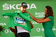 Podium, Hotess, miss, Peter Sagan (SVK - Bora - Hansgrohe) Green jersey, during the 105th Tour de France 2018, Stage 7, Fougeres - Chartres (231km) on July 13th, 2018 - Photo Luca Bettini / BettiniPhoto / ProSportsImages / DPPI