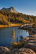 Vogelsang Peak rising above Booth Lake; Yosemite National Park; California