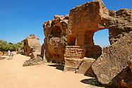 Ancient Greek walls of Agrigento, sicily