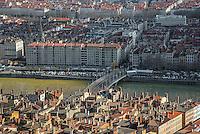 Lyon. Vue generale<br /> St Jean en 1er Plan, Quartier d el'Hotel de Ville en 2nd plan