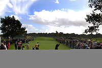 Photo: Daniel Hambury.<br /> WGC American Express Championship, The Grove. 01/10/2006.<br /> Tiger Woods drives from the 1oth tee.