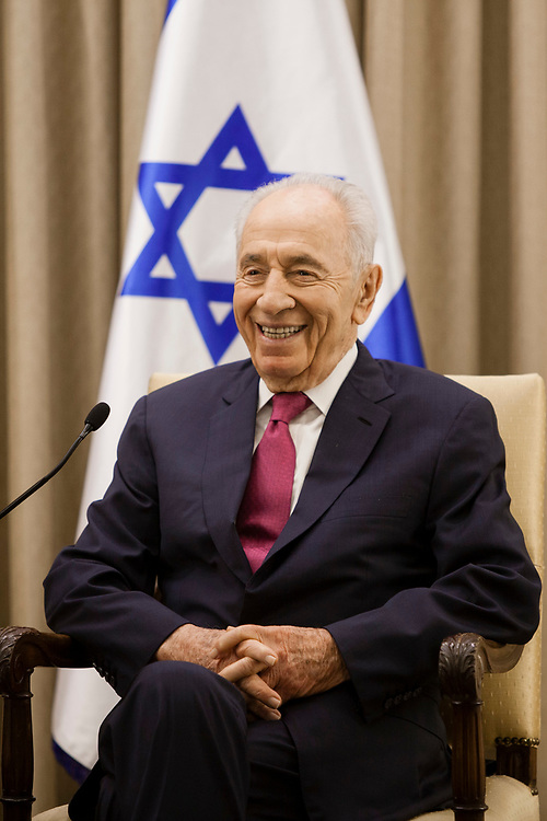Israel's President Shimon Peres is seen during his meeting with Prime Minister of Papua New Guinea (not pictured), at the Israeli President's Residence in Jerusalem, on October 17, 2013.