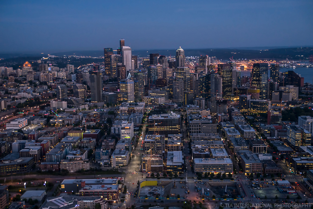 South Lake Union District (foreground) & Downtown Seattle