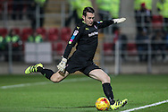 Lewis Price (Rotherham United) takes a goal kick during the EFL Sky Bet Championship match between Rotherham United and Leeds United at the New York Stadium, Rotherham, England on 26 November 2016. Photo by Mark P Doherty.