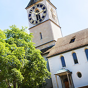 The clock on St. Peter's church in the old town of Zurich, Switzerland, is the largest clock face in Europe.