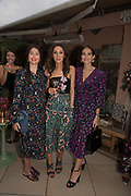LILY WORCESTER; ROSANNA FALCONNER, NATHALIE SALMON, spotted at Bloom & Wild's exclusive event at 5 Hertford Street last night. 5 September 2017. The event was announcing the new partnership between the UK's most loved florist, Bloom & Wild and British floral design icon Nikki Tibbles Wild at Heart. Cocooned in swaths of vibrant Autumn blooms, guests enjoyed floral-inspired cocktails from Sipsmith and bubbles from Chandon, with canapés put on by 5 Hertford Street. Three limited edition bouquets from the partnership can be bought through Bloom & Wild's website from the 1st September.  bloomandwild.com/WAH