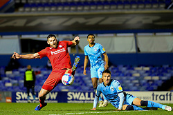 Birmingham City's Lukas Jutkiewicz stretches for a ball in the box - Mandatory by-line: Nick Browning/JMP - 20/11/2020 - FOOTBALL - St Andrews - Birmingham, England - Coventry City v Birmingham City - Sky Bet Championship