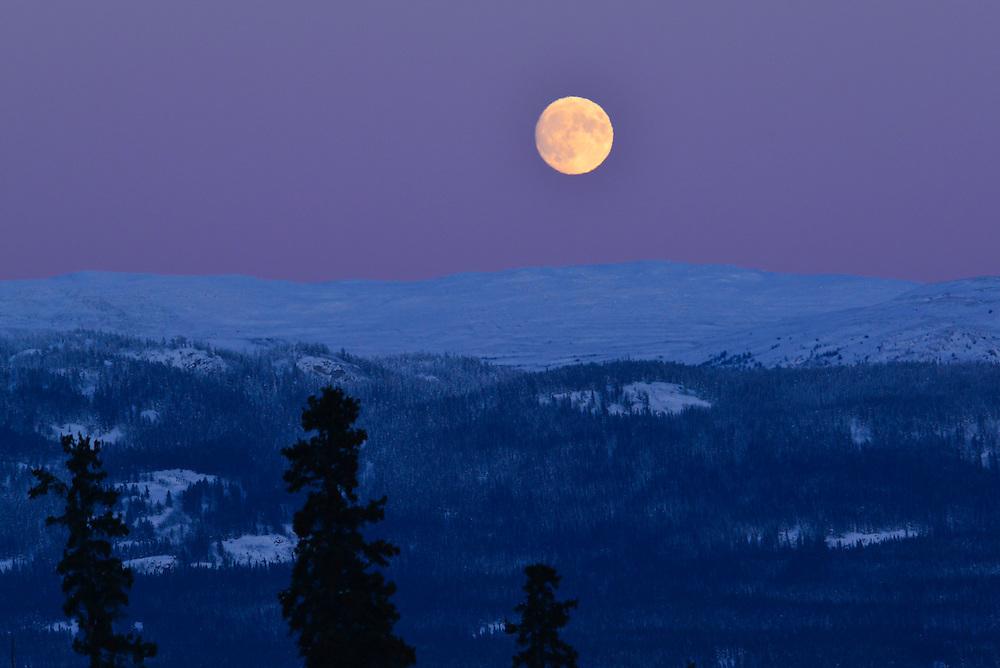 Full moon over Whitehorse