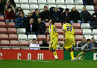 Photo: Andrew Unwin.<br />Sunderland v Southampton. Coca Cola Championship. 11/11/2006.<br />Southampton's Gareth Bale (L) celebrates scoring his team's equaliser.