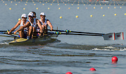 Plovdiv BULGARIA. 2017 FISA. Rowing World U23 Championships. <br /> GBR BM4-, Bow. HURN, Robert, DIGBY, Thomas, ELWES, Charles and CARNEGIE, Sholto<br /> Wednesday. PM,  Heats 17:27:54  Wednesday  19.07.17   <br /> <br /> [Mandatory Credit. Peter SPURRIER/Intersport Images].