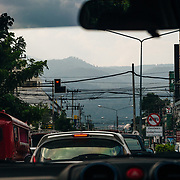 The view out of the back of the pickup truck in Chiang Mai, Thailand with Andrew Whiteford.