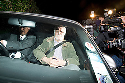 © London News Pictures. FILE PIC DATED.. 15/11/2012. Mentmore, UK .  British radio presenter Dave Lee Travis arriving back at his home in Mentmorein near Leighton Buzzard, Buckinghamshire, UK after a previous arrest in November 2012. Dave Lee Travis has been re-arrested today (13/03/2013) over new sex claims dating back to the 1970s. Photo credit: Ben Cawthra/LNP