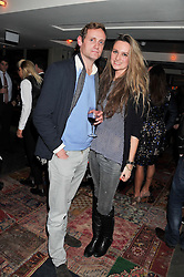 BRYONY DANIELS and CHARLIE CHURCH at the Beulah AW13 Showcase, Bungalow 8 LFW Pop-Up at Belgraves - A Thompson Hotel, 20 Chesham Place, London SW1 on 13th February 2013.