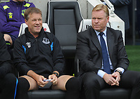Football - 2017 / 2018 Premier League - Brighton & Hove Albion vs. Everton<br /> <br /> Everton Manager Ronald Koeman (right) with his brother and coach, Erwin Koeman at The Amex.<br /> <br /> COLORSPORT/ANDREW COWIE