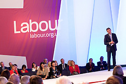 © Licensed to London News Pictures. 02/10/2012. Manchester, UK . Sebastian Coe on the stage during the Team Great Britain session . Labour Party Conference Day 3 at Manchester Central . Photo credit : Joel Goodman/LNP