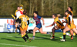 Serena Settembri of Bristol Bears charges towards the line - Mandatory by-line: Paul Knight/JMP - 31/10/2020 - RUGBY - Shaftesbury Park - Bristol, England - Bristol Bears Women v Wasps FC Ladies - Allianz Premier 15s