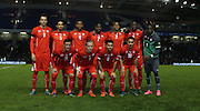 Swiss U21 team photo during the UEFA European Championship Under 21 2017 Qualifier match between England and Switzerland at the American Express Community Stadium, Brighton and Hove, England on 16 November 2015.