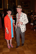 JESSICA VOORSANGER; BOB AND ROBERTA SMITH, Tate Britain Summer party. Tate. Millbank. 27 June 2011. <br /> <br />  , -DO NOT ARCHIVE-© Copyright Photograph by Dafydd Jones. 248 Clapham Rd. London SW9 0PZ. Tel 0207 820 0771. www.dafjones.com.