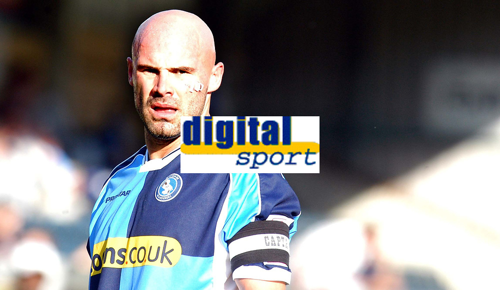 Photo: Alan Crowhurst.<br />Wycombe Wanderers v Lincoln City. Coca Cola League 2. 23/09/2006. Wycombe's Tommy Mooney.