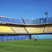 The famous Boca Juniors football stadium, La Bombonera, in La Boca region of Buenos Aires, Argentina, 25th June 2010. Photo Tim Clayton..