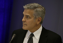 George Clooney beim Fl¸chtlingsgipfel am Rande der UN Vollversammlung in New York<br /> <br /> / 200916<br /> <br /> *** United States actor George Clooney attends a Leaders Summit for Refugees during the United Nations 71st session of the General Debate at the United Nations General Assembly at United Nations headquarters in New York, New York; September 20th, 2016 ***