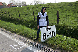 Feed zone at Gent Wevelgem - Elite Women 2019, a 136.9 km road race from Ieper to Wevelgem, Belgium on March 31, 2019. Photo by Sean Robinson/velofocus.com