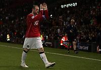 Photo: Paul Thomas.<br /> Manchester United v FC Copenhagen. UEFA Champions League, Group F. 17/10/2006.<br /> <br /> Wayne Rooney, Man Utd captain leaves the field.