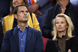 (L-R) Frank de Boer, Helen de Boer during the International friendly match match between The Netherlands and Peru at the Johan Cruijff Arena on September 06, 2018 in Amsterdam, The Netherlands