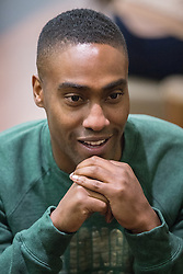 © Licensed to London News Pictures . 14/04/2014 . Phones 4U Arena , Manchester , UK . Simon Webbe from Blue . Photocall for former boyband stars as part of a reunion tour launch . Photo credit : Joel Goodman/LNP