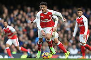 Alexis Sanchez of Arsenal in action. Premier league match, Chelsea v Arsenal at Stamford Bridge in London on Saturday 4th February 2017.<br /> pic by John Patrick Fletcher, Andrew Orchard sports photography.