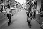 Residents at Konevova street in Zizkov.