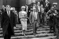 Duchess of Kent ending her visit to the House of Sport in Belfast is escorted back to her limousine by Victor Haslett of the N Ireland Sports Council, March 1986. The duchess was on a two day visit to the Province. 19860205DK7<br /> <br /> Copyright Image from Victor Patterson, 54 Dorchester Park, <br /> Belfast, UK, BT9 6RJ<br /> <br /> t1: +44 28 9066 1296 (from Rep of Ireland 048 9066 1296)<br /> t2: +44 28 9002 2446 (from Rep of Ireland 048 9002 2446)<br /> m: +44 7802 353836<br /> <br /> e1: victorpatterson@me.com<br /> e2: victorpatterson@gmail.com<br /> <br /> www.victorpatterson.com<br /> <br /> Please see my Terms and Conditions of Use at VICTORPATTERSON.COM. It is IMPORTANT that you familiarise yourself with them.<br /> <br /> Images used on the Internet must be visibly watermarked i.e. ©VICTORPATTERSON.COM within the body of the image and copyright metadata must not be deleted. Images used on the Internet have a size restriction of 4kbs and are chargeable at the then current NUJ rates.<br /> <br /> This image is only available for the use of the download recipient i.e. television station, newspaper, magazine, book publisher, etc, and must not be passed on to any third party. It is also downloaded on condition that each and every usage is notified within 7 days to victorpatterson@me.com<br /> <br /> The right of Victor Patterson to be identified as the author is asserted in accordance with The Copyright Designs And Patents Act (1988).