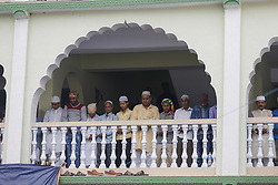June 16, 2018 - Kathmandu, Bangladesh - Nepalese Muslims gather to perform Eid al-Fitr prayer at the Kashmiri Mosque in Kathmandu, Nepal, June 16, 2018. (Credit Image: © Sunil Pradhan/NurPhoto via ZUMA Press)