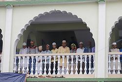 June 16, 2018 - Kathmandu, Bangladesh - Nepalese Muslims gather to perform Eid al-Fitr prayer at the Kashmiri Mosque in Kathmandu, Nepal, June 16, 2018. (Credit Image: © Sunil Pradhan/NurPhoto via ZUMA Press)