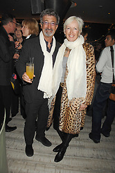 EDDIE & MARIE JORDAN at the launch party for 'The End of Summer Ball' in Berkeley Square held at Nobu Berkeley, 15 Berkeley Street, London on 7th April 2008.<br />