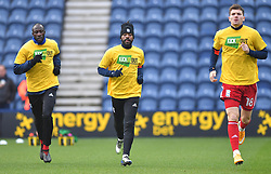 Birmingham City's Jacques Maghoma warms up ahead of the match