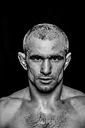 BOXEN / MMA: Studio, Portrait of a Boxer, Hamburg, 07.01.207<br /> Iurie Bejenari (MMA Factory)<br /> © Torsten Helmke