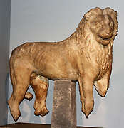 Marble lion from Mausoleum. Circa 350 BC