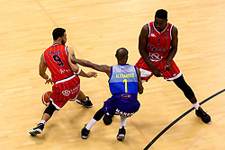 Chris Taylor of Bristol Flyers and Daniel Edozie of Bristol Flyers attack - Photo mandatory by-line: Robbie Stephenson/JMP - 29/03/2019 - BASKETBALL - English Institute of Sport - Sheffield, England - Sheffield Sharks v Bristol Flyers - British Basketball League Championship