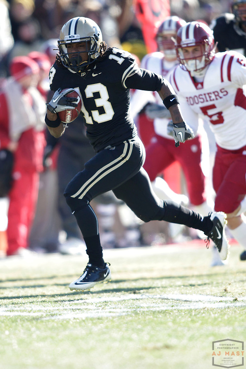 27 November 2010: Purdue Boilermakers wide receiver Antavian Edison (13) as the Purdue Boilermakers played the Indiana Hoosiers in a college football game in West Lafayette, Ind.