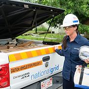 National Grid Meter worker installing Smart Meter