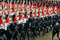 Lifeguards, Horse Guard, Trooping the Color,  Queen Elizabeth II's birthday parade, London, England