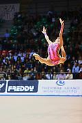 Martina Brambilla atleta della società San Giorgio Desio durante la seconda prova del Campionato Italiano di Ginnastica Ritmica.<br /> La gara si è svolta a Desio il 31 ottobre 2015.