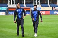 AFC Wimbledon players arrive at Kenilworth Road ahead of the EFL Sky Bet League 1 match between Luton Town and AFC Wimbledon at Kenilworth Road, Luton, England on 23 April 2019.