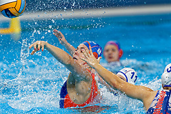 21-01-2020 HUN: European Water polo Championship, Budapest <br /> Slovakia - Netherlands 2—32 / Vivian Sevenich #8 of Netherlands during LEN European Aquatics Waterpolo on January 21, 2020. SVK vs Netherlands in Duna Arena in Budapest, Hungary
